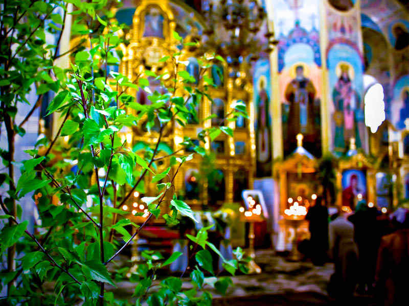 Почему на Троицу храм украшают зеленью